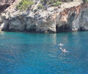 Dalyan Snorkelling - Swimming near the caves