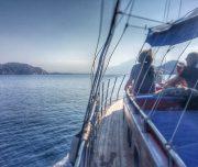 Sailing towards Fethiye