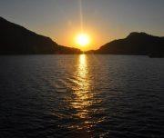 Dalyan Moonlight Boat Trip - Sunset over Koycegiz Lake