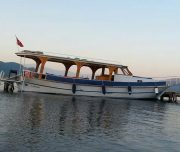 Dalyan Snorkelling -Our boat at sea