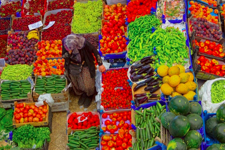 Koycegiz Market Colourful Vegetables And Fruits