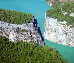 Dalaman River floating through Akkaya Valley