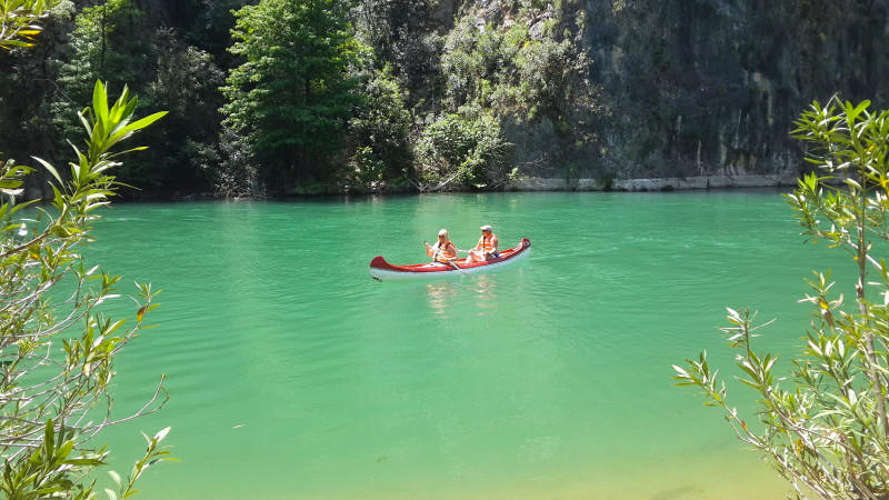Canoeing at Akkaya Valley