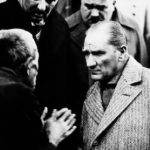 Ataturk and a villager