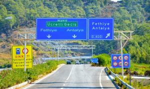 Gocek Turkey tunnel junction