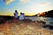 Dalyan Excursion - Mediterranean Highlights - Sunset at Big Pebble Beach
