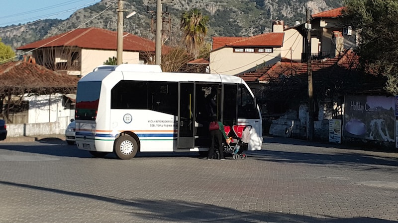 New busses in Dalyan - Comfortable and easy to get on and get off