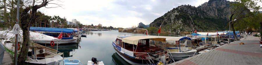 Dalyan Sevgi yolu and River