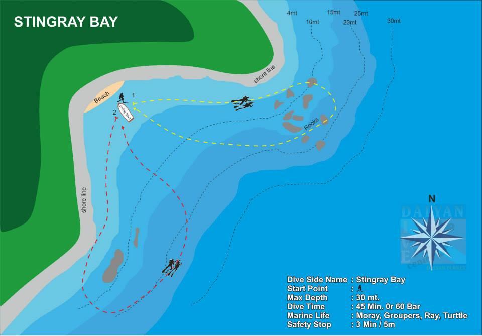 Dalyan Dive Site Stingray Bay