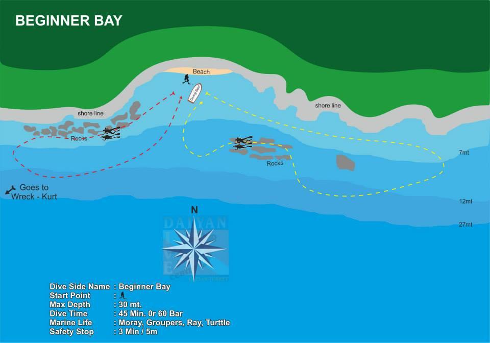Dalyan Dive Site Beginner Bay