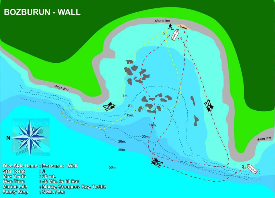 Dalyan Dive Site Bozburun Duvar