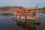 Private Dalyan Boat Trip - Our boat at Little Dalyan