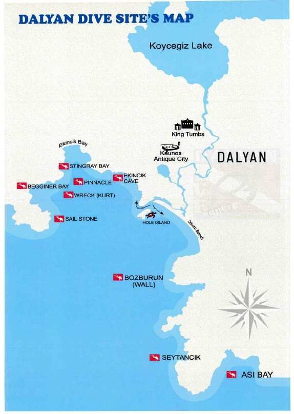 Dalyan Dive Sites