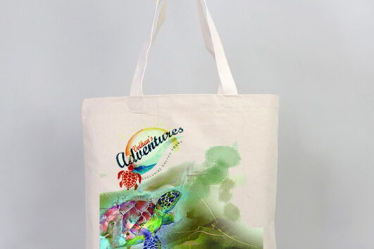 Quality merchandise from Volkan's Adventures for you to take little bit of Dalyan back home. 2 in 1 beach bag towels, beach bags and more - caretta printed linen bag
