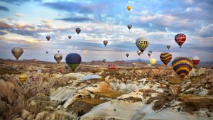 Cappadocia-tour-Balloon-flight-during-sunrise