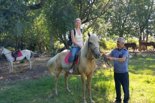 Dalyan Sunset Horse Safari - Preparing to go