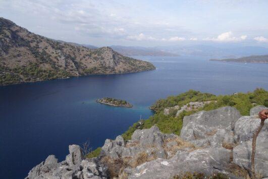 Dalyan trekking - Dalaman Kapidag penninsula - Sea view