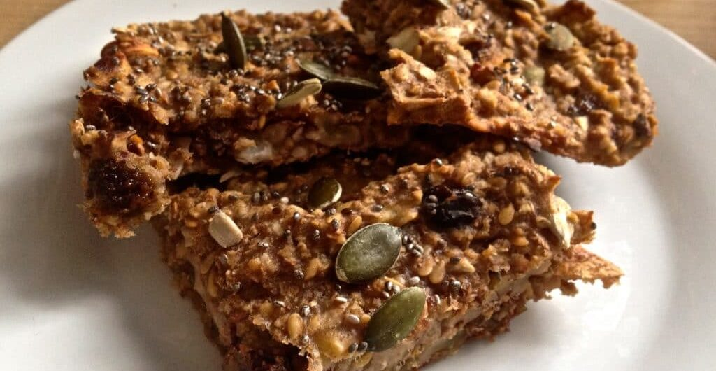 Tasty homemade flapjacks
