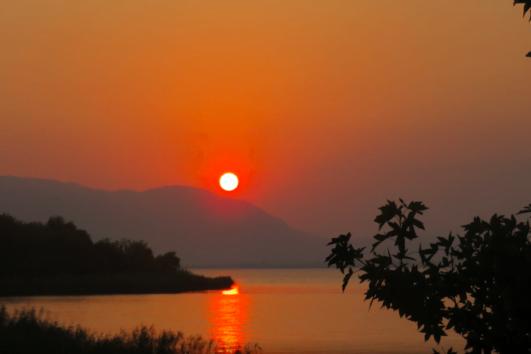 Sunset Over Koycegiz Lake
