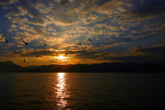 Beautiful scenery over Koycegiz Lake