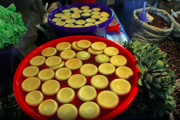 Artichoke hearts at the market