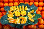 Fresh oranges at the market