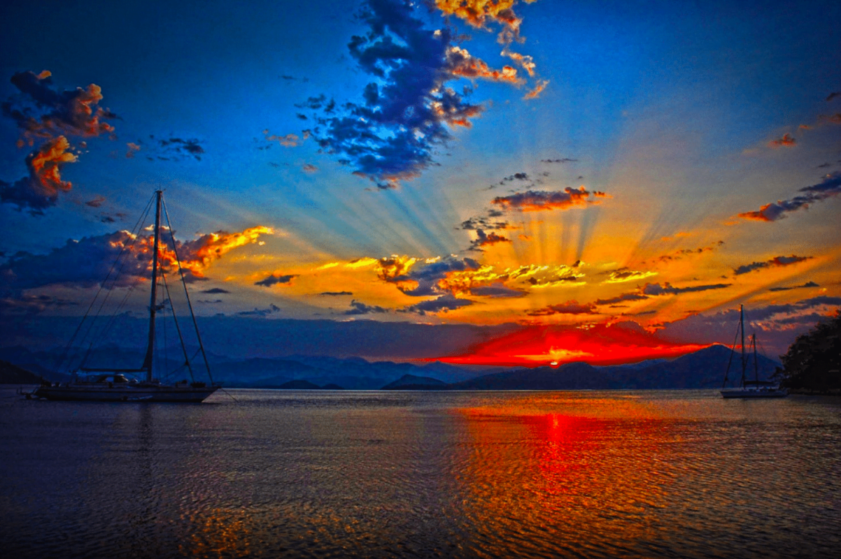 Gocek Moonlight Sailing Magnificent Sunset