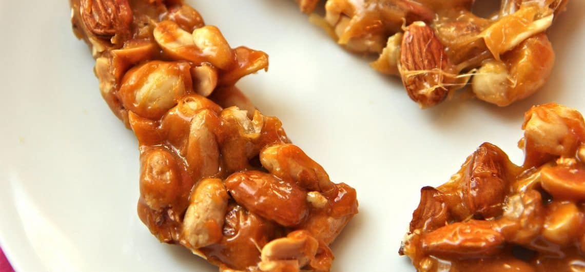 Turkish Delight and sweets - Nut brittle ready to eat