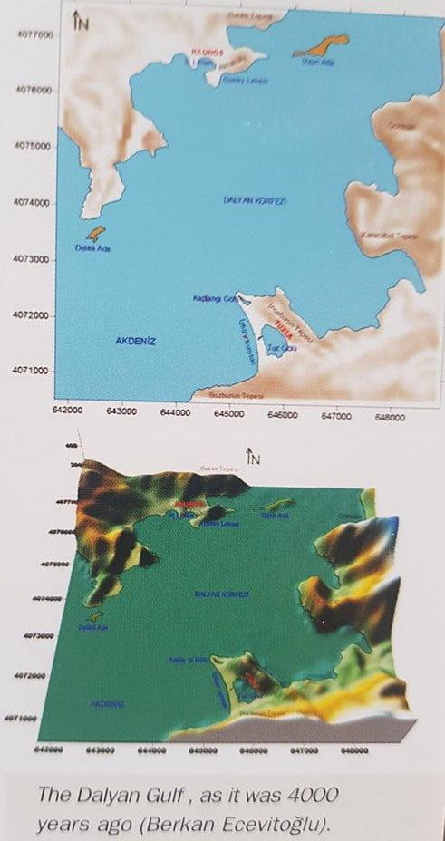 Dalyan Gulf, as it was 4000 years ago