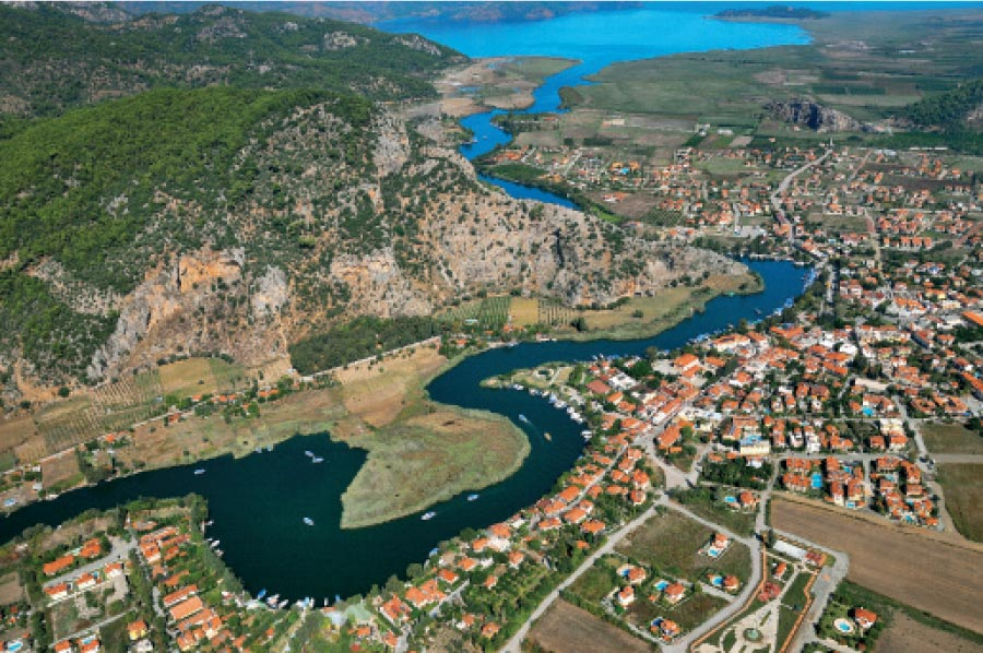 Dalyan Attractions - Dalyan From Air