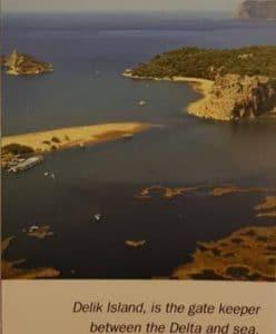 Delik Island - Dalyan Iztuzu Beach and Dalyan Gate