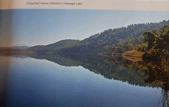 untouched nature reflected in koycegiz lake