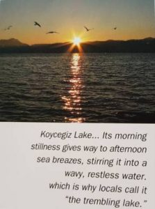 koycegiz lake, the trembling lake