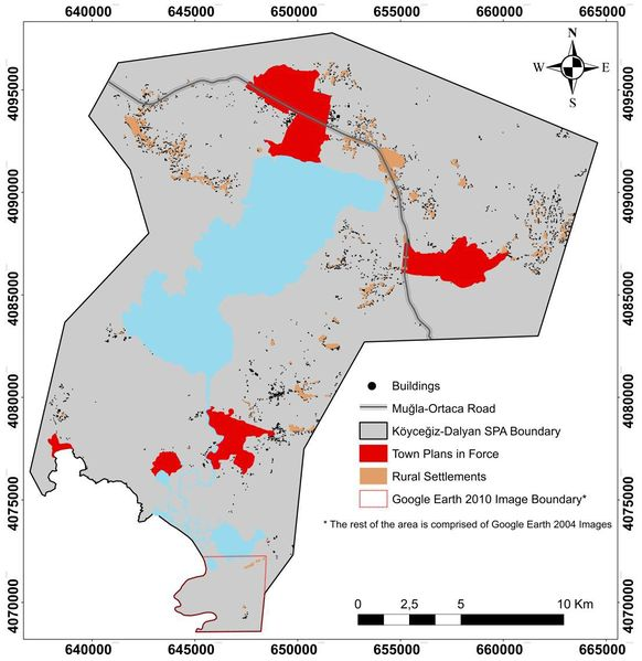 Urban Settlements in Koycegiz - Dalyan Special Protection Area