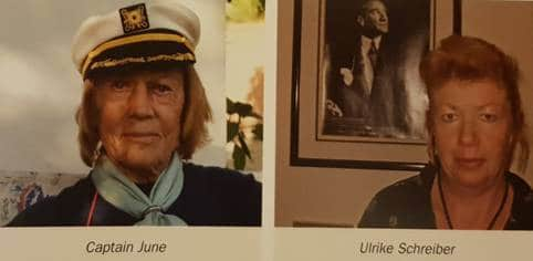 Captain June and Ulrike Schreiber