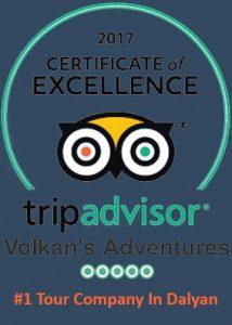 TripAdvisor Volkan's Adventures certificate excellence theme bg