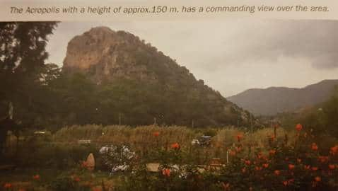 The Acropolis height 150 mt.
