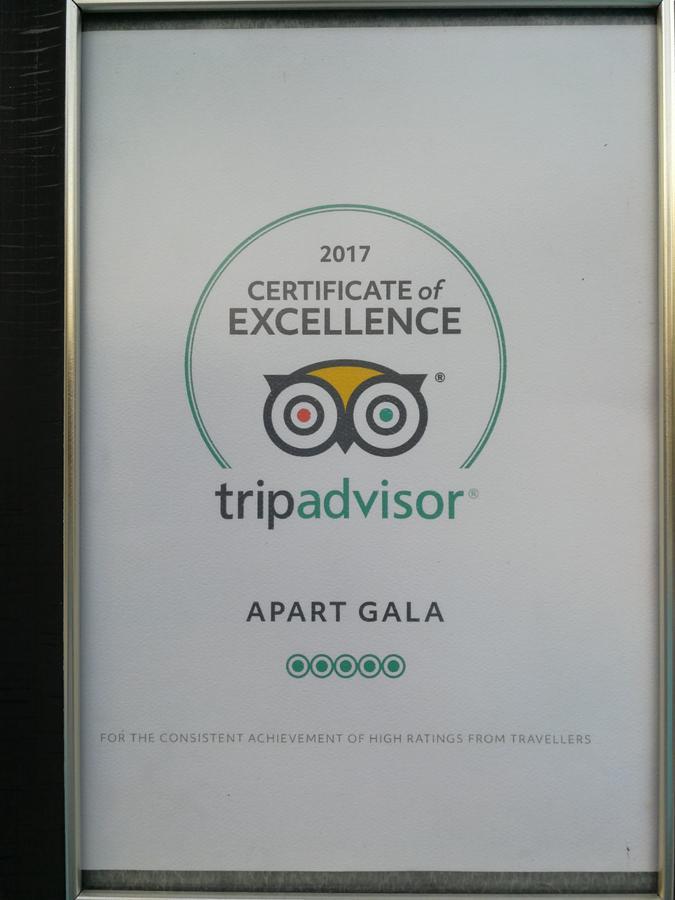 gala trip advisor certificate 2017