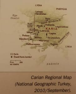 Carian Regional Map