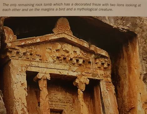 nice decorated rock tombs