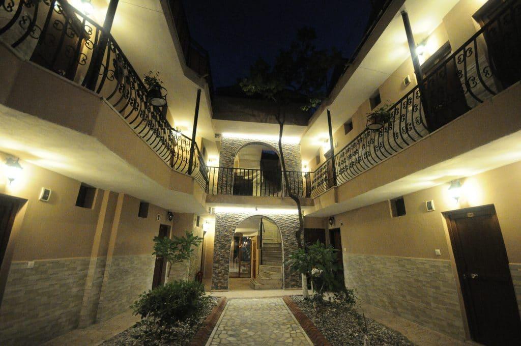 Palmyra Hotel exterior walkway