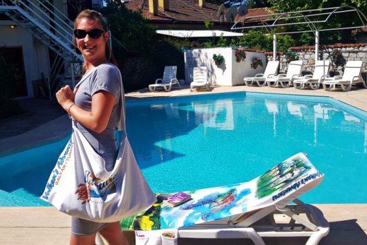 2 in 1 Beach Bag & Towel - Dalyan memories - Dalyan Gift - 9