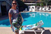 2 in 1 Beach Bag & Towel - Dalyan memories - Dalyan Gift - 10