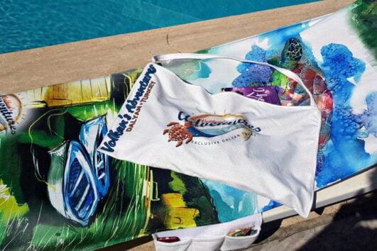2 in 1 Beach Bag & Towel - Dalyan memories - Dalyan Gift - 11