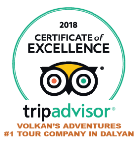 VOLKAN'S ADVENTURES CERTIFICATE OF EXCELLENCE 2018