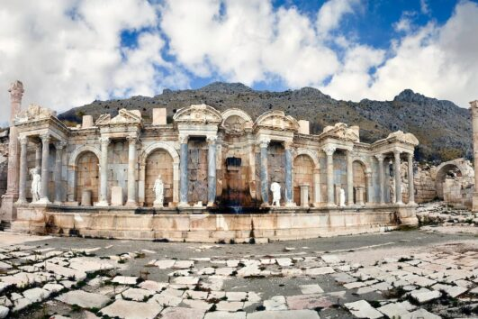 SAGALASSOS, TURKEY – The Antonine Nymphaeum.