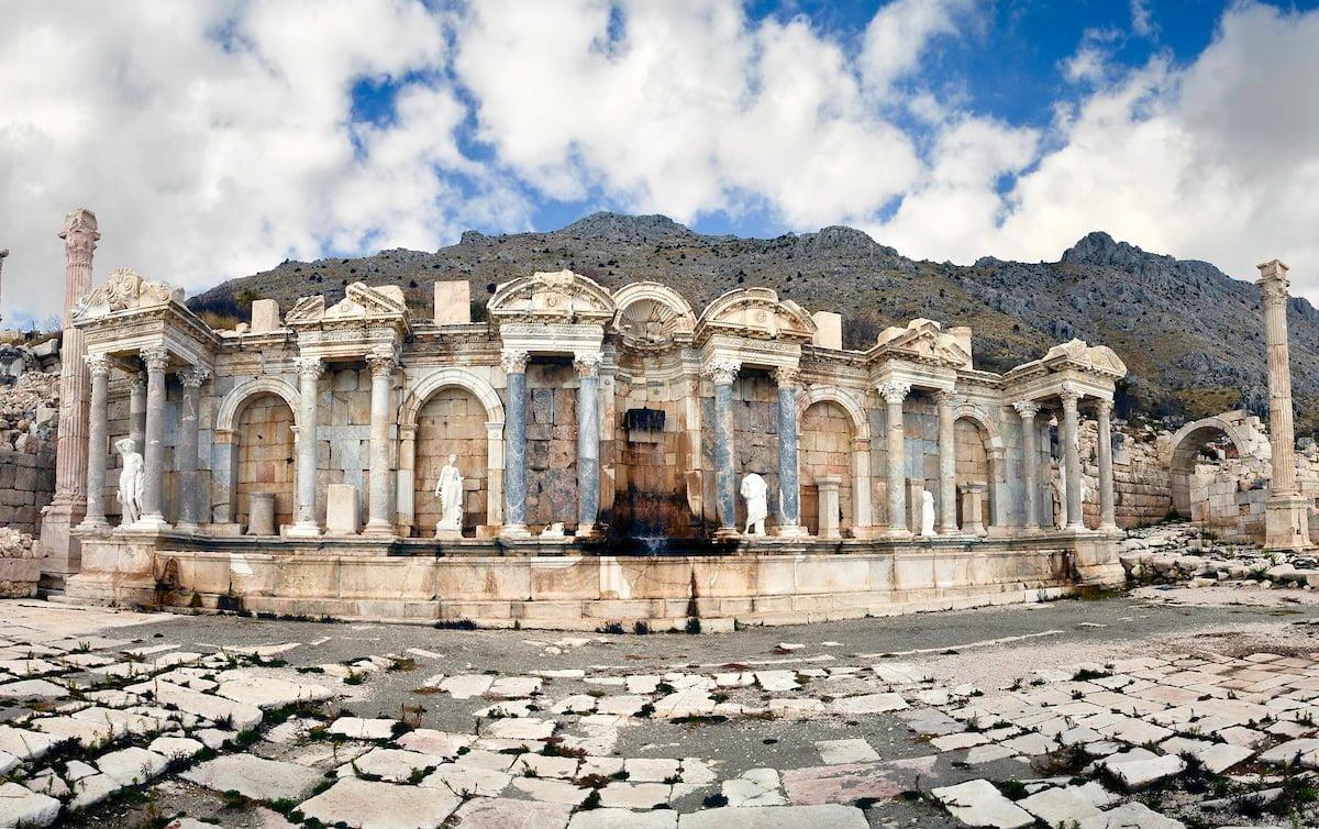 SAGALASSOS, TURKEY – The Antonine Nymphaeum.