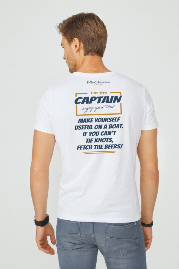 captain men crew back quality merchandise from Volkan's Adventures