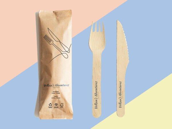Birch Wood Cutlery - Volkan's Adventures Shop - Eco Friendly Products